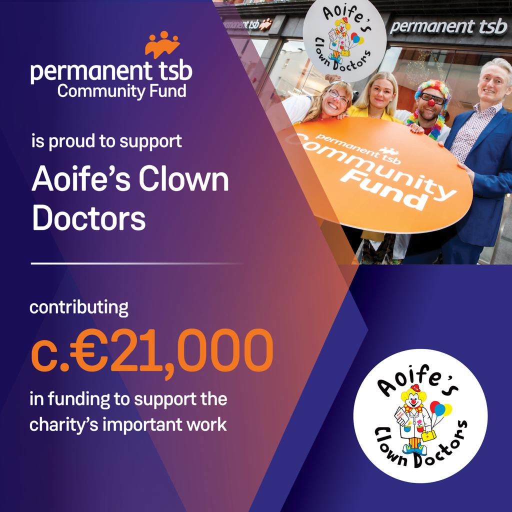 permanent tsb raise funds for Aoife's Clown Doctors